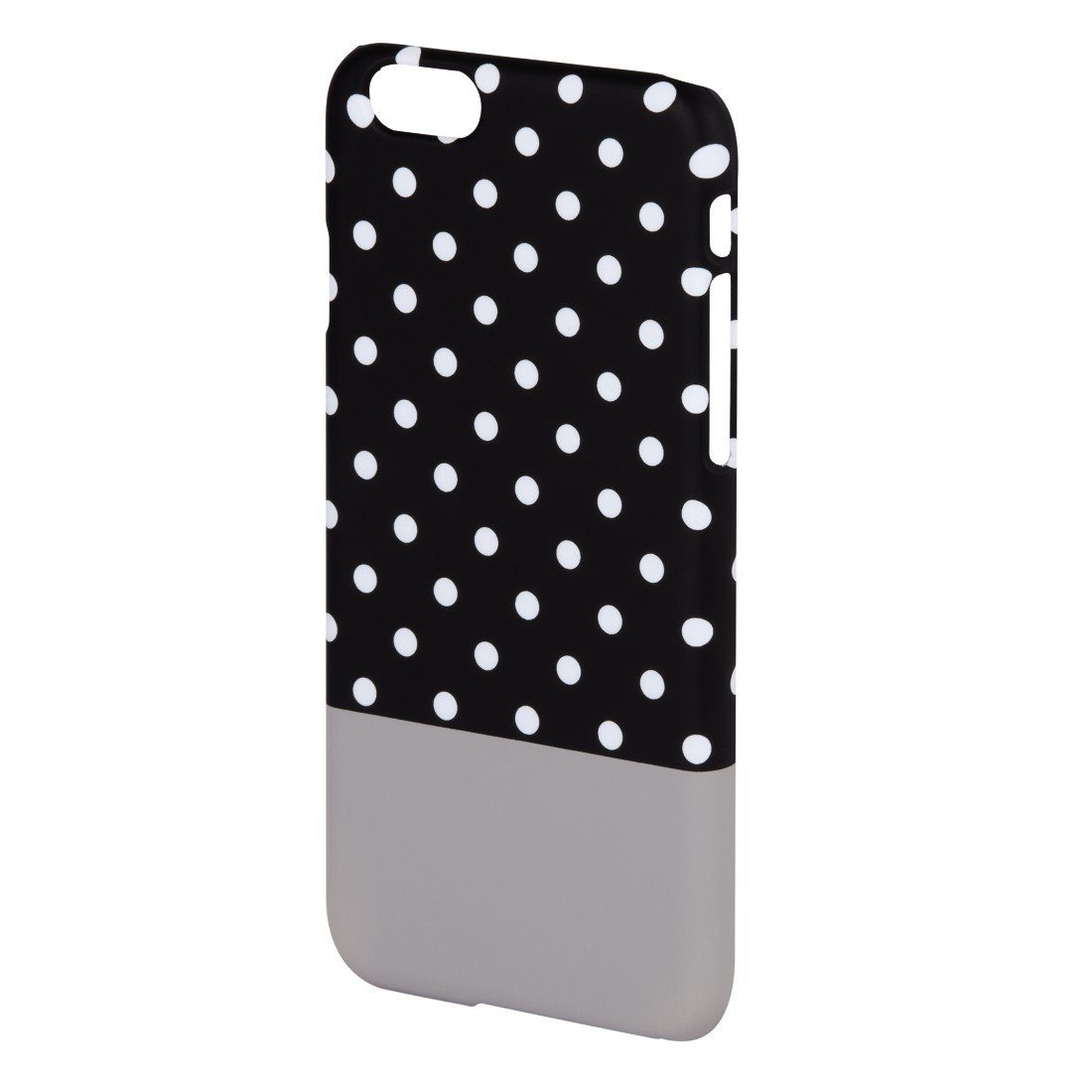 Hama Cover Lovely Dots für Apple iPhone 6, Schwarz/Grau